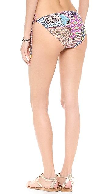 Red Carter Patch Reversible Bikini Bottoms