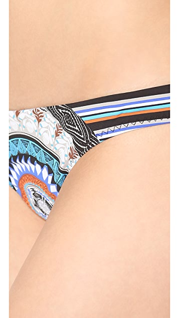 Red Carter Hipster Bikini Bottoms
