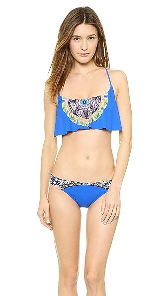 Red Carter Sun Goddess Bikini Top