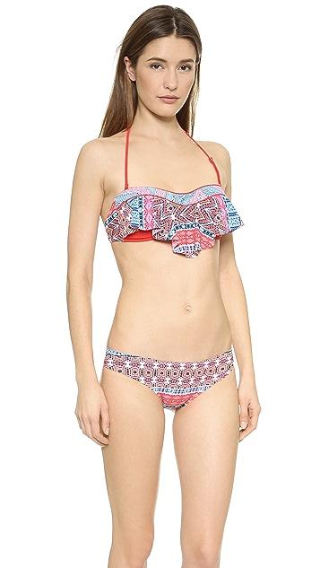 Red Carter Moroccan Tile Bikini Top