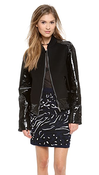 RDM by Rue du Mail Vinyl Bomber Jacket