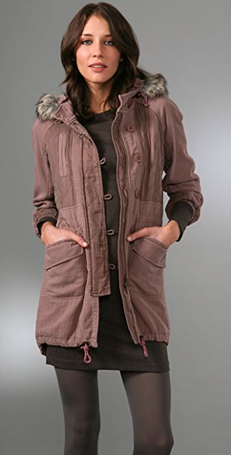 Rebecca Taylor Parka with Faux Fur