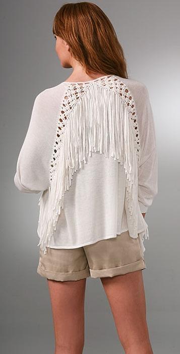 Rebecca Taylor Spaghetti Cardigan Sweater