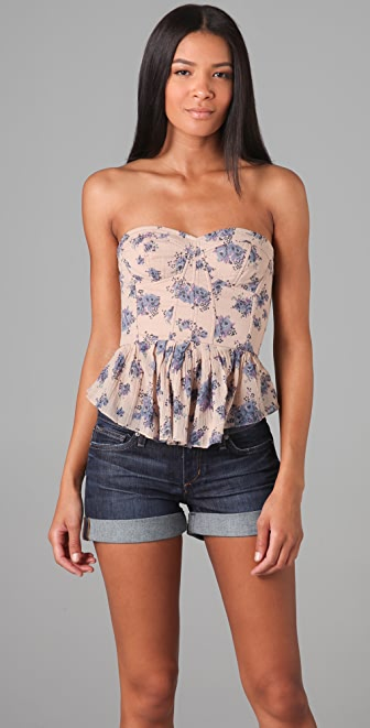 Rebecca Taylor Summer Day Bustier Top