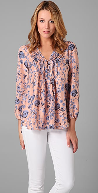 Rebecca Taylor Carnation Forest Blouse