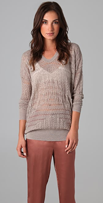 Rebecca Taylor Runway U Neck Sweater