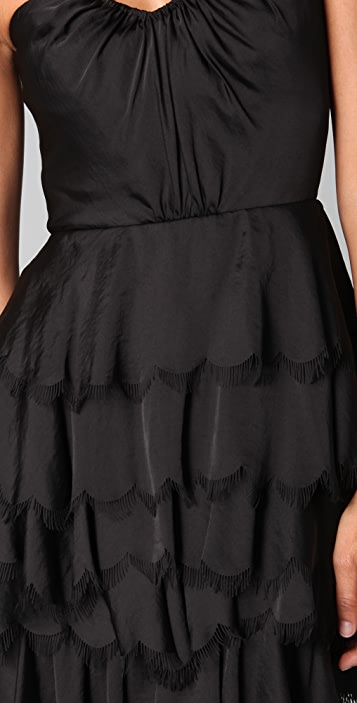 Rebecca Taylor Eyelash Strapless Bustier Dress