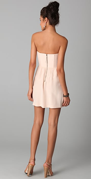 Rebecca Taylor Ruched Strapless Dress
