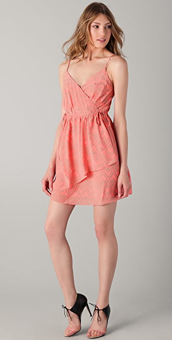 Rebecca Taylor Faux Wrap Tank Dress