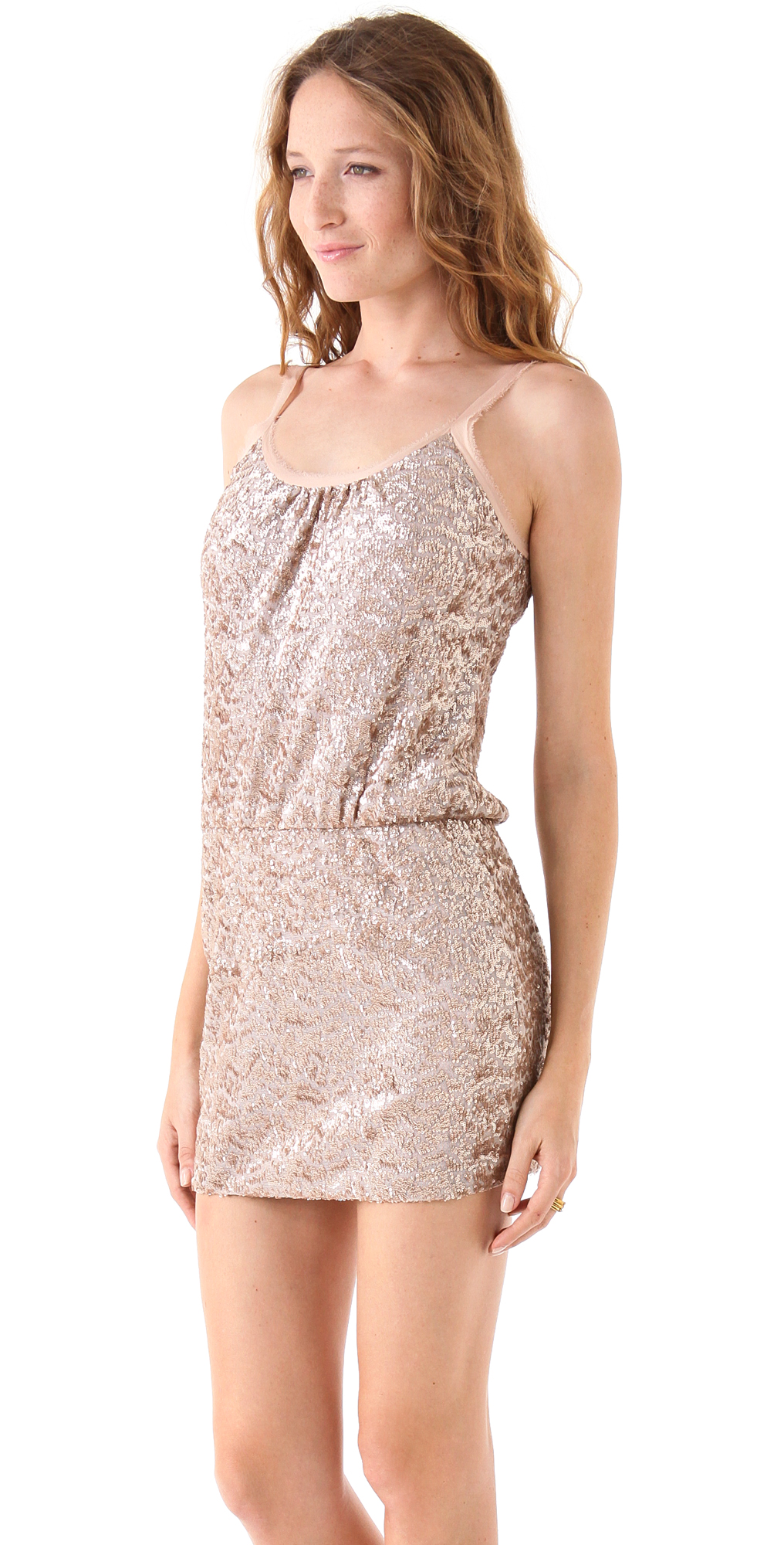 Rebecca Taylor Sequined Cami Dress | SHOPBOP