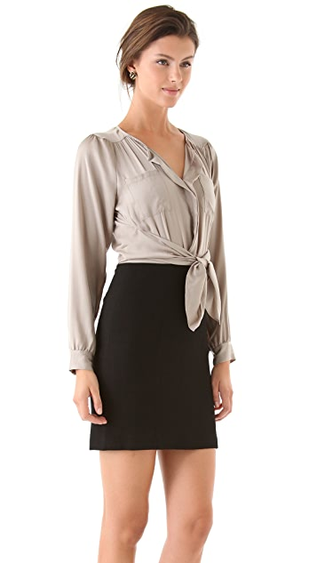 Rebecca Taylor Knot Front Dress