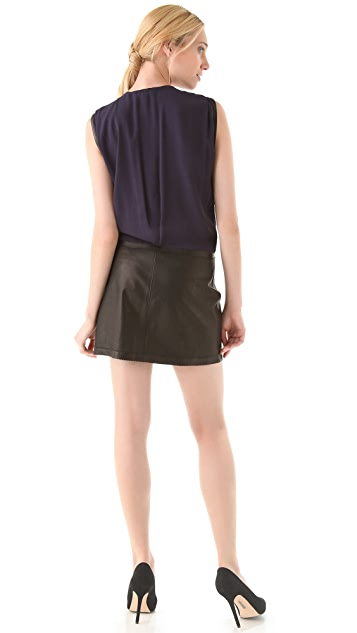 Rebecca Taylor Leather Combo Dress
