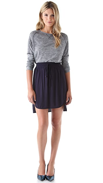 Rebecca Taylor Hi Lo Crepe Skirt