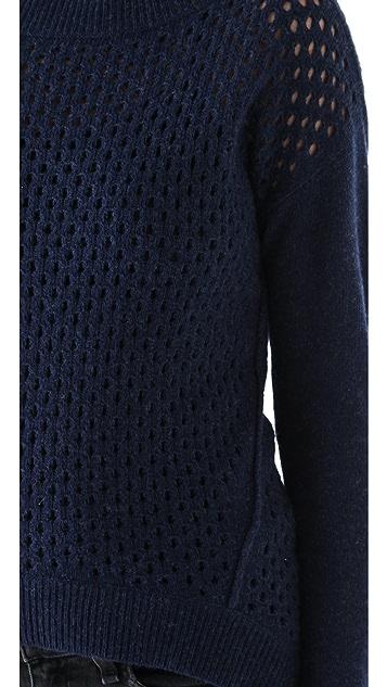 Rebecca Taylor Mesh Stitch Pullover