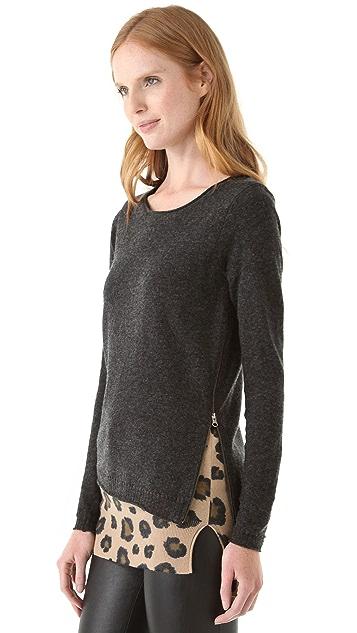 Rebecca Taylor Leo Block Layered Sweater