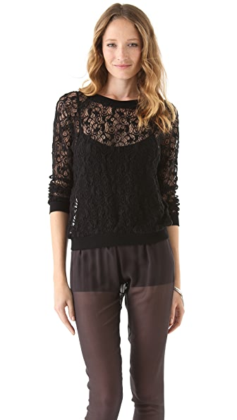 Rebecca Taylor Big Lace Top