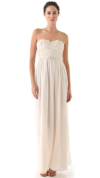 Rebecca Taylor Sweet Rose Strapless Gown