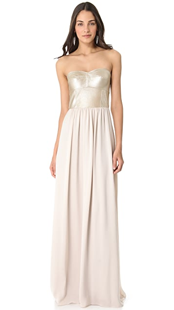 Rebecca Taylor Lil Bit Strapless Gown