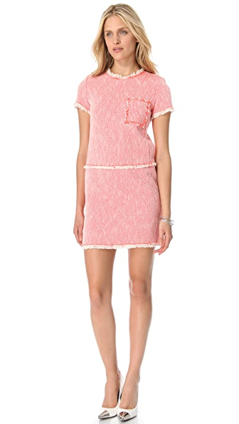 Rebecca Taylor Neon Tweed Shift Dress