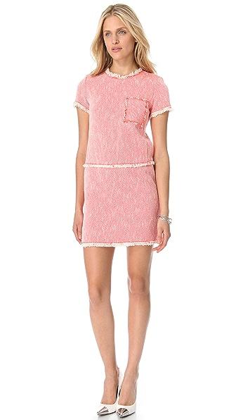 Rebecca Taylor Neon Tweed Shift Dress