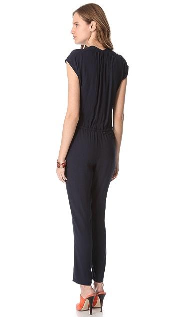 Rebecca Taylor Pebbled Crepe Jumpsuit