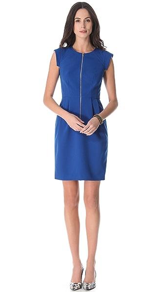 Rebecca Taylor Crepe Zip Front Dress