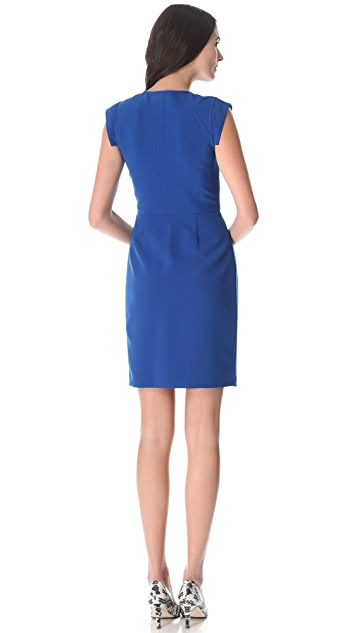 Rebecca Taylor Crepe Zip Front Dress