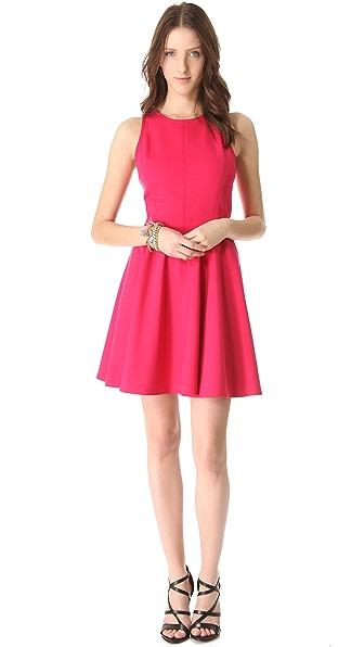 Rebecca Taylor Pleated Ponte Dress