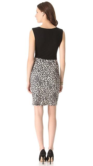 Rebecca Taylor Leopard Print Sheath Dress