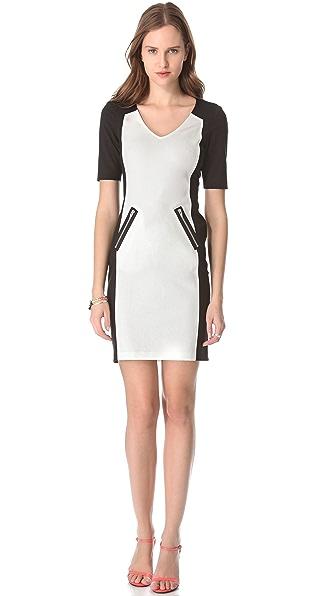 Rebecca Taylor Ponte Combo Dress