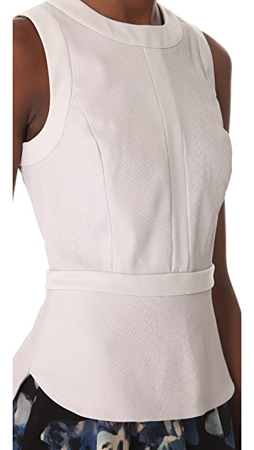 Rebecca Taylor Pleated Leather Top