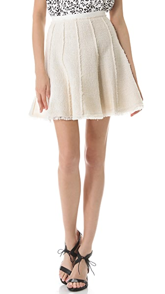 Rebecca Taylor Tweed Flare Skirt