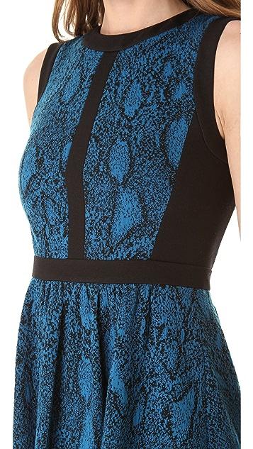 Rebecca Taylor Python Fit & Flare Dress