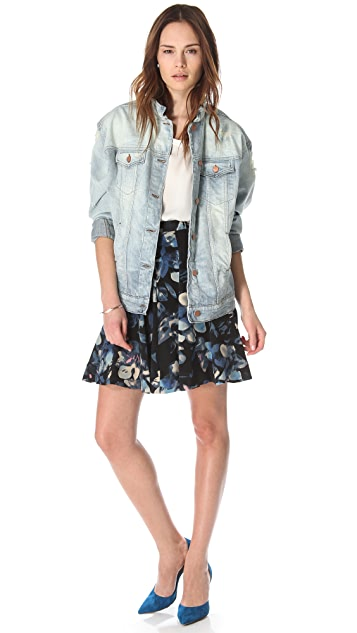 Rebecca Taylor Hawaii Flared Skirt