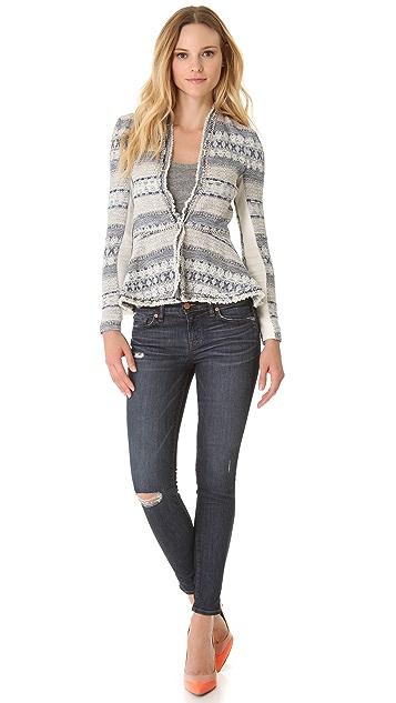 Rebecca Taylor Tweed & Chain Jacket