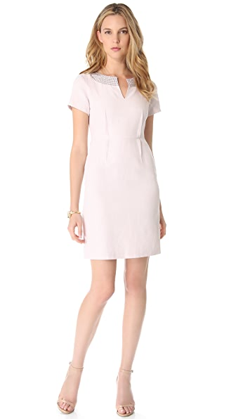 Rebecca Taylor Studded Linen Dress