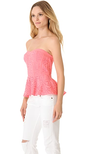Rebecca Taylor Eyelet Bustier Top