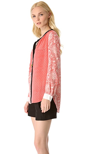 Rebecca Taylor Star Flower Shirt