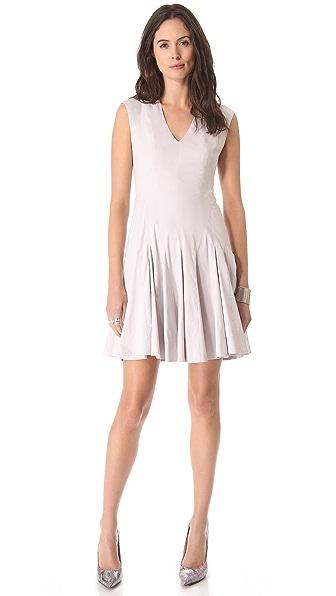 Rebecca Taylor V Neck Godet Dress