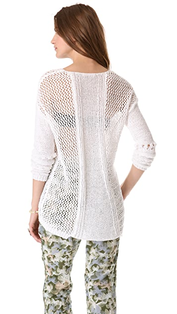 Rebecca Taylor Textured Crew Sweater