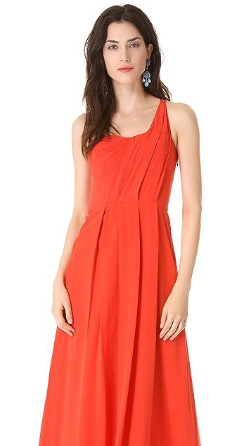 Rebecca Taylor One Shoulder Maxi Dress