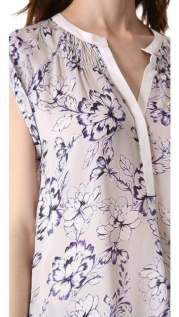 Rebecca Taylor Zen Flower Sleeveless Top