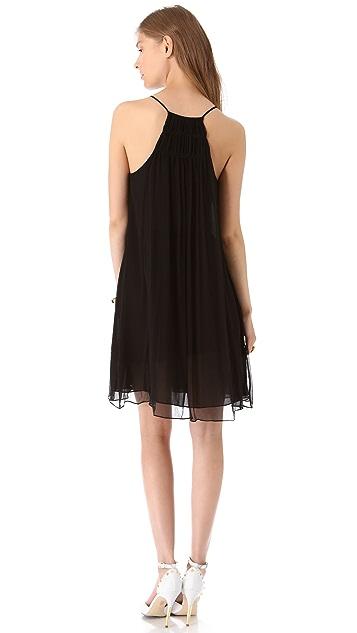 Rebecca Taylor Embroidered Halter Dress