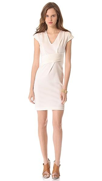Rebecca Taylor Asymmetrical V Neck Dress