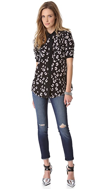 Rebecca Taylor Bobcat Long Sleeve Shirt