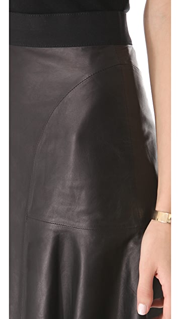 Rebecca Taylor Leather Skirt