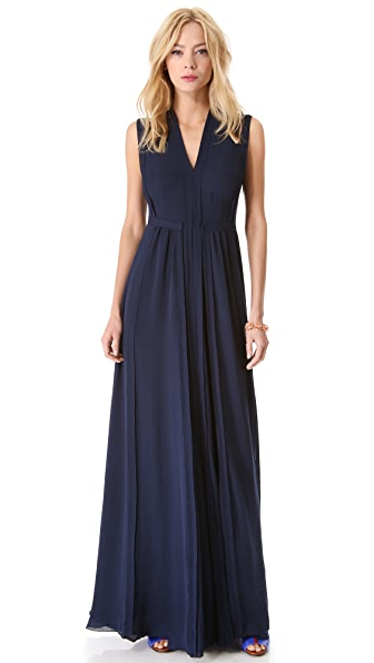 Rebecca Taylor Pleated Maxi Dress