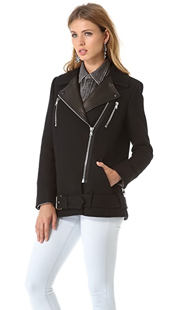 Rebecca Taylor Biker Coat
