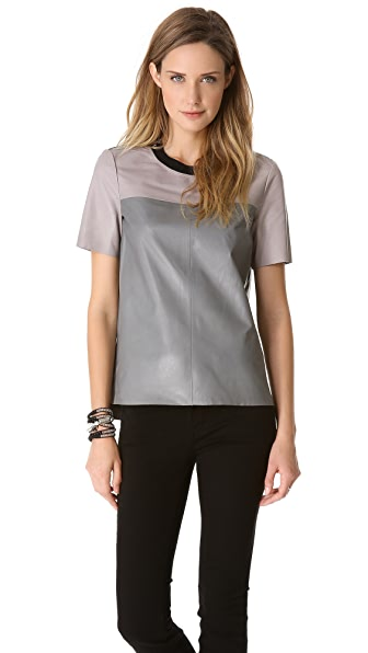 Rebecca Taylor Leather Tee