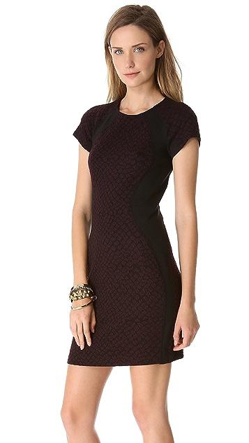 Rebecca Taylor Croc Short Sleeve Dress